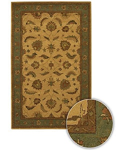 Hand-tufted Mandara Tan Wool Rug (5' x 7'6)