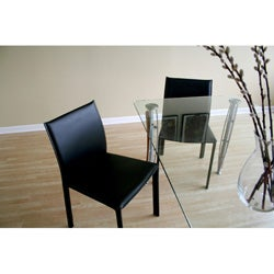 Belleme Black Leather Dining Chair (Set of 2)
