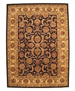 Hand-tufted Black Nikka Wool Rug (9' x 12')