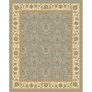 Safavieh Lyndhurst Floral Motif Greyish Blue/ Ivory Rug (8' x 11')