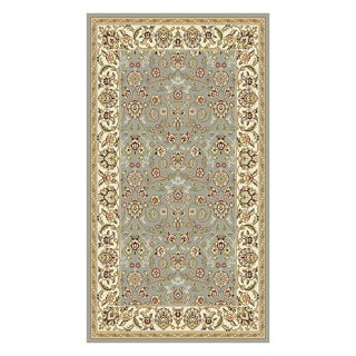 Lyndhurst Floral Motif Greyish Blue/ Ivory Rug (3'3 x 5'3)