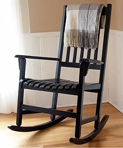 Black Wooden Rocking Chair - 10505183 - Overstock.com Shopping - Great ...