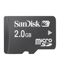 SanDisk 2GB Micro SD Memory Card with Adapter