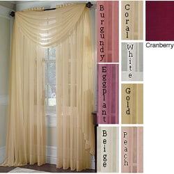 Platinum Voile Sheer Rod Pocket 95-inch Curtain Panel