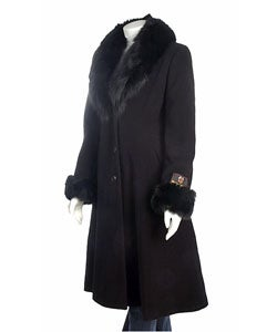 Marvin Richards Cashmere Blend Fox Fur Coat
