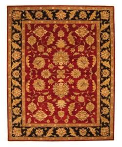 Hand-tufted Zari Red Wool Rug (7'9 x 9'9)