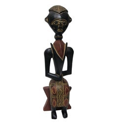 Handmade Royal Queenmother Sculpture (Ghana)