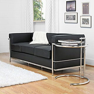 Mason Black Leather Sofa
