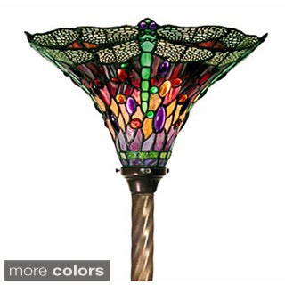 Tiffany-style Dragonfly Torchiere Lamp