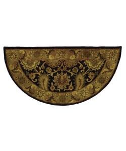 Safavieh Handmade Regal Dark Plum/ Gold Wool Rug (2' x 4' Half Moon)