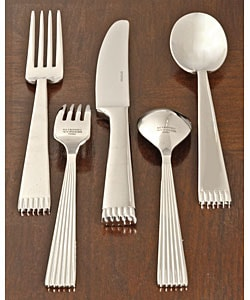 Wallace Retroneu Cobble Mirror 42-pc. Flatware Set | Overstock.
