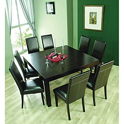 Hudson Square Table & 8 Leather Dining Chairs
