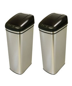 13-gallon Infrared Touchless Trash Can (Pack of 2)