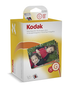 Kodak G200 Printer Photo Paper Kit