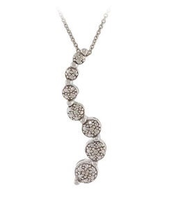 DB Designs Sterling Silver Single Diamond Journey Necklace