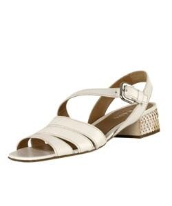 Prada White Leather Basket Weave Sandals