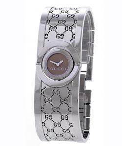 Gucci Women's YA112501 'Twirl' Small Stainless Steel Bangle Watch