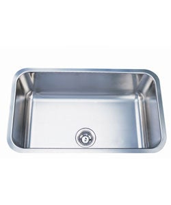 Elongated Stainless Steel 30-inch Undermount Kitchen Sink