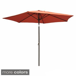 International Caravan Aluminum Tilt and Crank 8-foot Outdoor Umbrella
