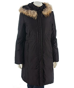 Via Spiga Women's Black 3/4-length Down Coat