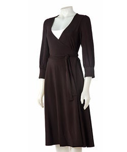 To The Max Black Wrap Dress
