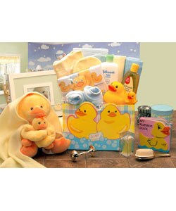 Just Duckey Baby Duck New Baby Gift Box Basic Necessity Combo Set