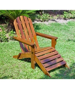 Adirondack Chair with Attached Footrest