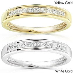 14k Gold 1/4ct TDW Princess Diamond Wedding Band (H-I, I1-I2)