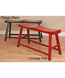 Handmade Wooden Double Horse Bench (China)