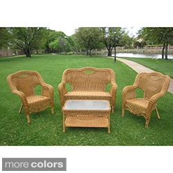Maui Outdoor Loveseat, Chairs and Coffee Table Set