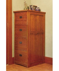 Mission Solid Oak 4-drawer File Cabinet (Oak)
