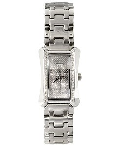Croton Women's Pave Diamond Dial Dress Watch