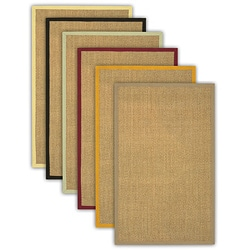 Hand-Woven Alpen Border Sisal Rugs (8&#39; Square)
