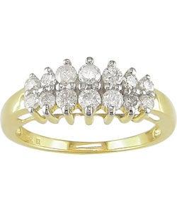 10k Gold 1/2ct TDW Round Diamond Anniversary Stairway Ring (H-I/ I2-I3)