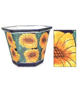 Ceramic Sunflower Fiesta Octagonal Flowerpot (Mexico)