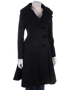 Marvin Richards Double Breasted Long Dress Coat - Overstock