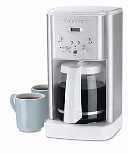 Cuisinart DCC-1200WFR White Coffee Maker (Refurbished)