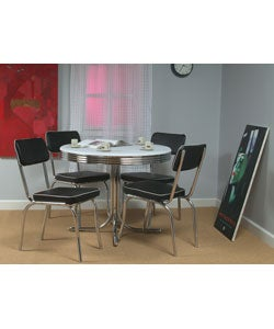 Simple Living Bistro 5 Piece Retro Dining Table Set