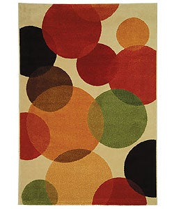 Fine-spun Bubbles Cream/ Multi Area Rug (4' x 5'7)