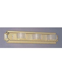 Brass 3-light Acrylic Wave Bath Light