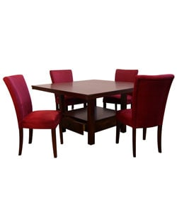 Aiden Red Parson 5-piece Dining Set | Overstock.com Shopping - Big