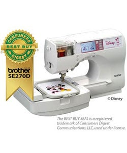 Brother SE270 Disney Embroidery Machine with Free Instructional CD (Refurbished)