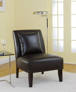 Accent Dark Brown Leather Chair.