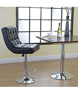 Chicago Black Leather Bar Stool