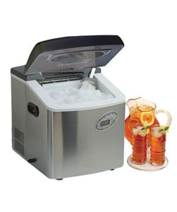 Stainless Steel Portable Ice Maker with LCD Display | Overstock.