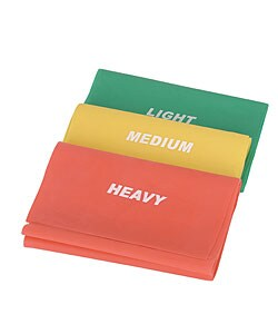 Portable Pilates Latex Resistance Bands for Any Level (Set of Three)