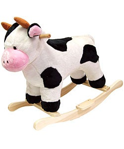 Plush Children's Rocking Cow