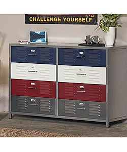 Boy's Locker 8-Drawer Dresser