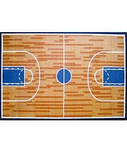 Basketball Court Rug (3'3 x 4'11)