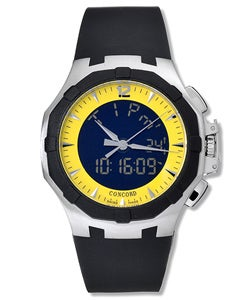 Concord Saratoga Black & Yellow Dial Luxury Watch